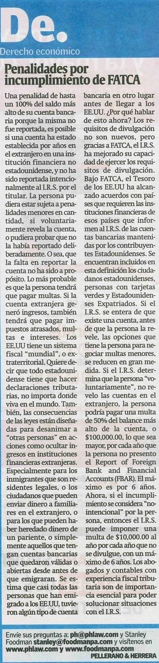 Diario Libre - FATCA